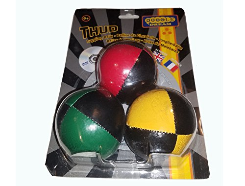 Juggle Dream Thud 3-Pack with 24 Trick DVD (Black)