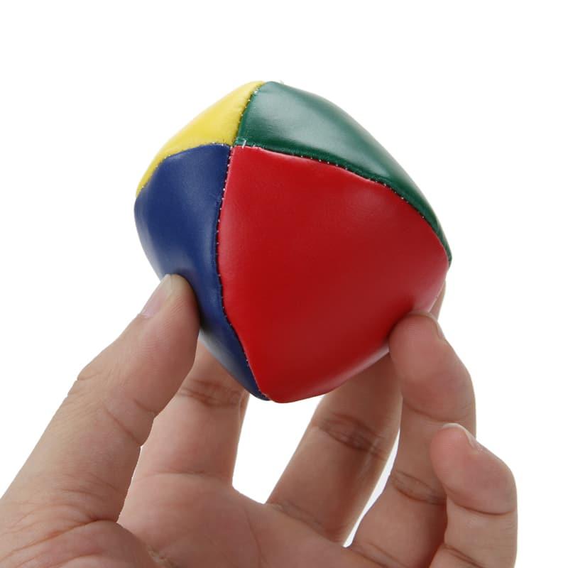 5PC PU Juggling Balls Set Ball Bag for Magic Circus Beginner Kids Toy Gift Fun
