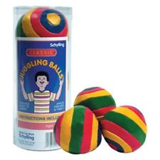 3 JUGGLING BALLS classic Bean bag Learn to juggle Magic Clown Striped FAST SHIP!