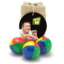 3 Professional Juggling Balls Free Online Instructional Video Burlap Carry Bag