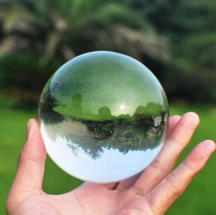 70mm Crystal Ultra Clear Acrylic Ball Manipulation contact Juggling fuuny gadgets Magic Tricks mentalismo juegos de magia kids