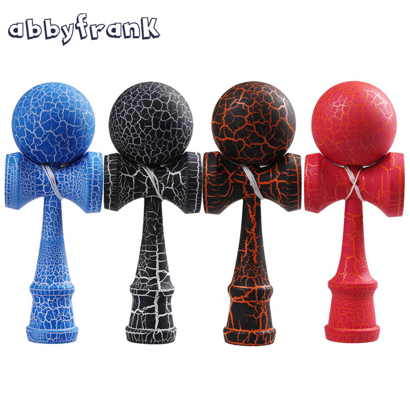 Abbyfrank Full Crack Kendama Sword Ball Skillful Professional Juggling Ball Game Toy Wooden Kendama Toy For Children Adult Gifts