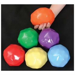 Abilitations Yuck-E-Balls 3 1/2 Inches - Set of 6 - Assorted Colors