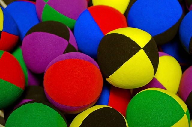 colored, balls, ball