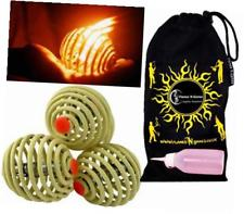 Fyrefli fire juggling balls (68mm) Pro Fire Juggling Ball Set of 3 and fuel