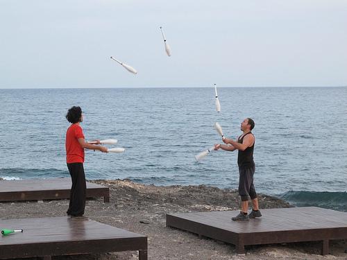sea juggler jugglers grancan arinaga (Photo: Risager on Flickr)