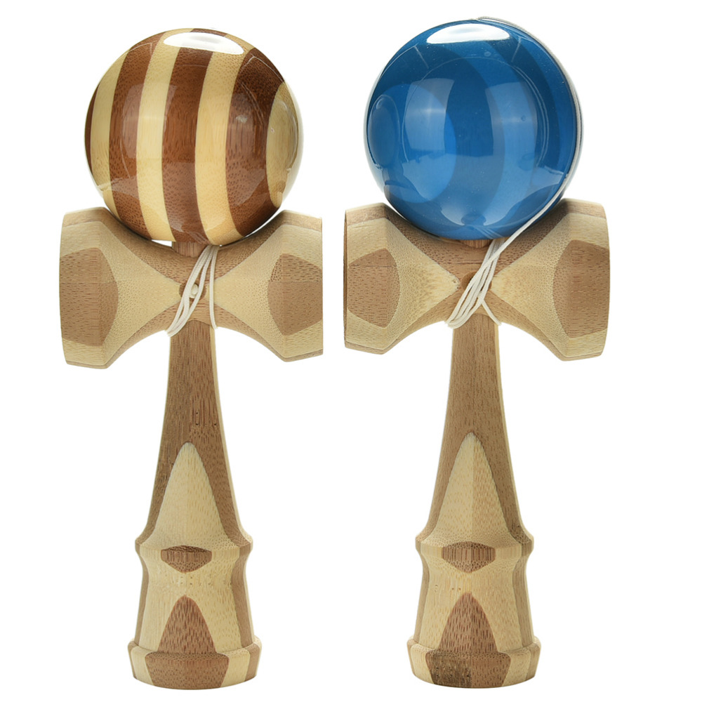 1PCS Professional Bamboo Kendama Toy Bamboo Kendama Skillful Juggling Ball Toy For Children Adult Colors Random Christmas Toy