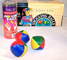 2 PROFESSIONAL JUGGLING BALL SET W 3 BALLS magician clown practice jester JUGGLE