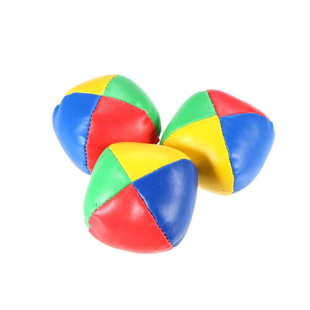 NEW 3Pcs Soft Mini Juggling Ball Set Classic Bean Bag Pillow Balls Stress Relief Toys for Children Adults Top Quality