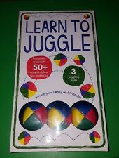New In Box Sealed Learn To Juggle 3 Balls Piece Professional Set
