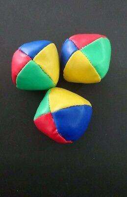 6x PU Juggling Balls Set Ball Bag for Magic Circus Beginner Kids Toy Gift Fun