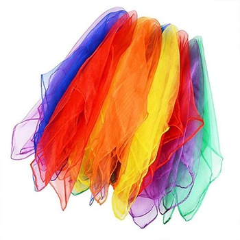 Dancing And Juggling Towels Candy Colored Gym Towel Dance Practical Gauze Scarf Chiffon 6 colors