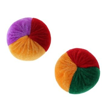 New Soft Colorful Juggling Ball Handmade Children Footbag Kindergarten Supplies