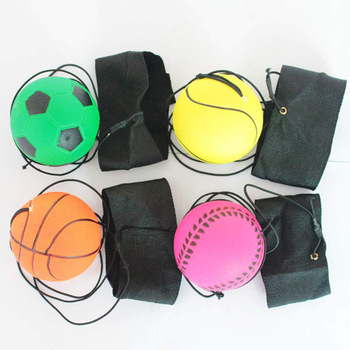 Return Sponge Rubber Hand Ball Game Exercises Bouncing Elastic Sport On Nylon String Children Kids Outdoor Toy Ball