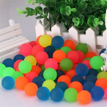 10pcs/lot Pets Toy Ball Colored Bouncing Ball Rubber Outdoor Toys Kids Elastic Juggling Jumping Balls 27mm
