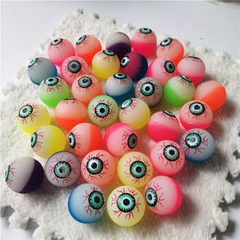 20pcs/set Jumping Balls eyes Bouncing Balls Rubber Outdoor Bath Toys Child Sports Games Elastic Juggling Children Toy