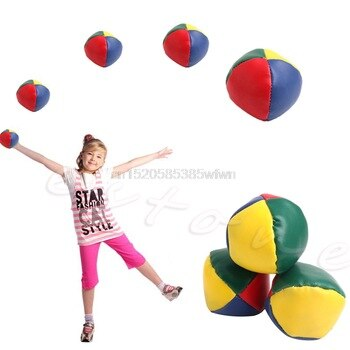 1Pc Fun And Exercise Juggling Balls Set Classic Bean Bag Juggle Magic Circus Kids Toy Gift #HC6U# Drop shipping