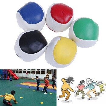 1PC Juggling Balls Set Classic Bean Bag Juggle Magic Circus Beginner Children Kids Toy Balls Kids Interactive Toys 2019