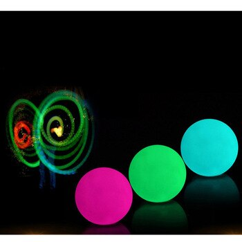 1pc Waterproof Colorful Bulb Stage Light Party Lamp Luminescent Throwing Ball Multi Color Light for Fitness Juggling Thrown Ball