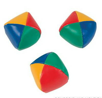 """2 SETS OF 3 TOTAL 6 LEARN TO JUGGLE BALLS JUGGLING BALL WITH INSTRUCTIONS 2.25"""""""