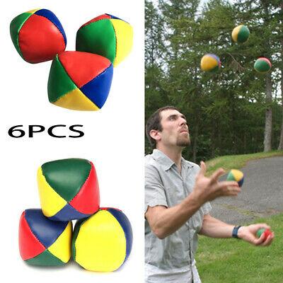 6PC Magic Juggling Balls Classic Bean Bag Juggle Circus Beginner Kids Toy