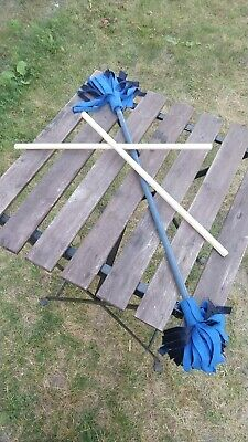 Juggling Sticks w/ Blue Fringe Ends - GREAT CONDITION