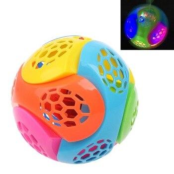 Puzzle Jumping Flashing Bouncing Ball Dancing Ball LED Light Music Kids Toy Assemble Blocks