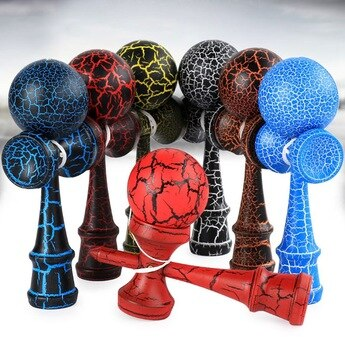Regular Professional Kendama Ball Wooden Toys Outdoor Skillful Juggling Ball Toy Stress Ball Early Education Toys for Kids